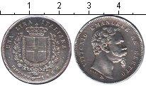 Изображение Монеты Италия 1 лира 1860 Серебро XF Витторио Имануил I