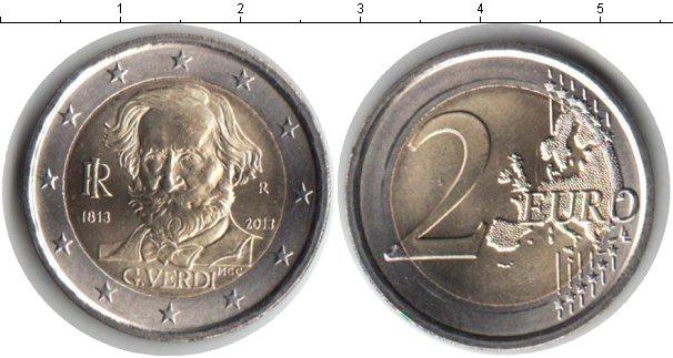Картинка Мелочь Италия 2 евро Биметалл 2013