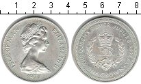 Изображение Монеты Остров Мэн 1 крона 1977 Серебро XF