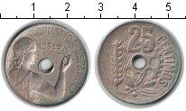 Изображение Мелочь Испания 25 сентим 1934 Медно-никель XF