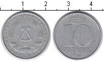Изображение Мелочь ГДР 10 пфеннигов 1968 Алюминий XF