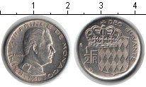 Изображение Мелочь Монако 1/2 франка 1968 Медно-никель XF Райнер III