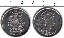 Изображение Мелочь Канада 50 центов 2002 Медно-никель UNC 50-летие правления Е