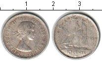 Изображение Мелочь Канада 10 центов 1964 Серебро VF Елизавета II
