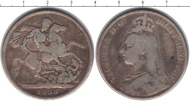 Картинка Монеты Великобритания 1 крона Серебро 1890