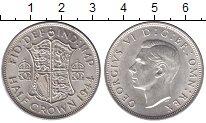 Изображение Мелочь Великобритания 1/2 кроны 1945 Серебро XF Георг VI