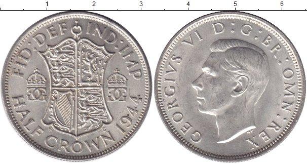 Картинка Мелочь Великобритания 1/2 кроны Серебро 1945