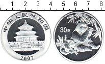 Изображение Мелочь Китай монетовидный жетон 2007 Посеребрение Proof Панда