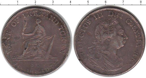 Картинка Монеты Ирландия 6 шиллингов Серебро 1804