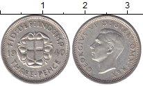 Изображение Мелочь Великобритания 3 пенса 1938 Серебро XF Георг VI