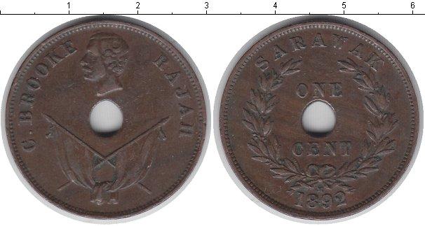 Картинка Монеты Саравак 1 цент Медь 1892
