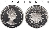 Изображение Монеты Каймановы острова 1 доллар 1994 Серебро Proof- Елизавета II.