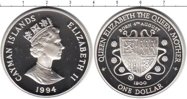 Картинка Монеты Каймановы острова 1 доллар Серебро 1994