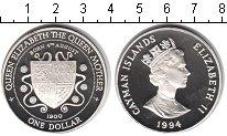 Изображение Монеты Каймановы острова 1 доллар 1994 Серебро Proof-
