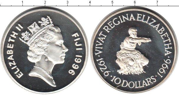 Картинка Монеты Фиджи 10 долларов Серебро 1996