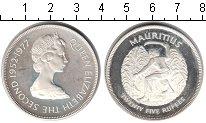 Изображение Монеты Маврикий 25 рупий 1977 Серебро Proof- Елизавета II. 25-лет