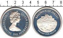 Изображение Монеты Остров Джерси 25 пенсов 1977 Серебро Proof- Елизавета II.