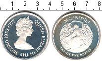 Изображение Монеты Маврикий 25 рупий 1977 Серебро Proof 25-летие правления Е