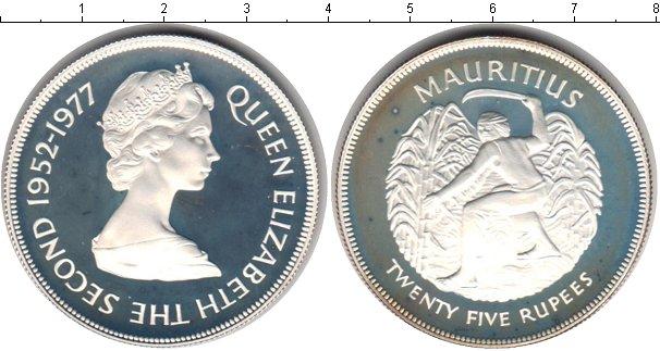 Картинка Монеты Маврикий 25 рупий Серебро 1977