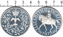 Изображение Монеты Великобритания 25 новых пенсов 1977 Серебро Proof- 25 лет правления