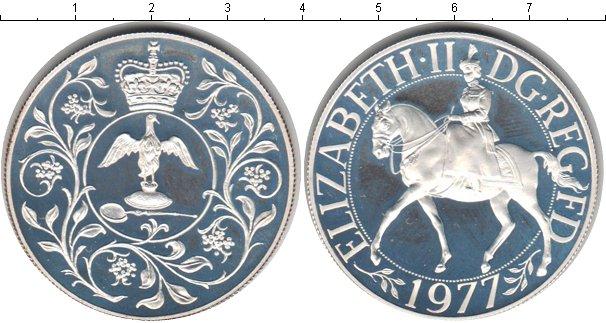 Картинка Монеты Великобритания 25 новых пенсов Серебро 1977