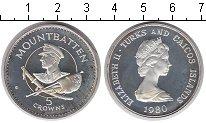 Изображение Монеты Теркc и Кайкос 5 крон 1980 Серебро Proof
