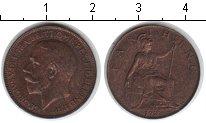 Изображение Монеты Великобритания 1 фартинг 1923 Медь XF Георг V