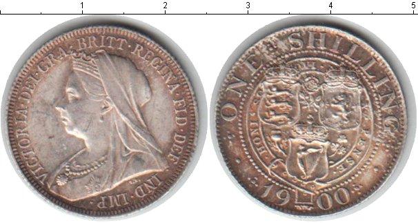 Картинка Монеты Великобритания 1 шиллинг Серебро 1900