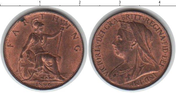 Картинка Монеты Великобритания 1 фартинг Медь 1896