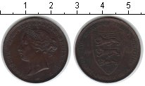 Изображение Монеты Остров Джерси 1/24 шиллинга 1888 Медь XF Виктория