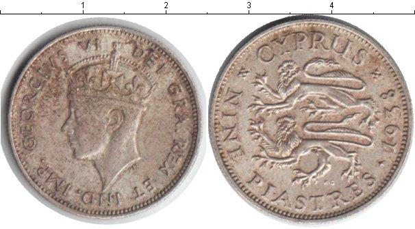 Картинка Монеты Кипр 9 пиастров Серебро 1938