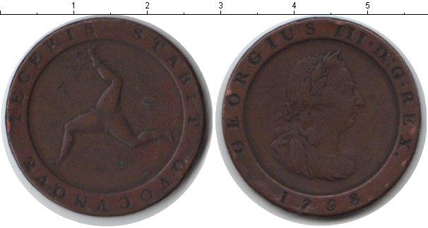 Картинка Монеты Остров Мэн 1/2 пенни Медь 1798