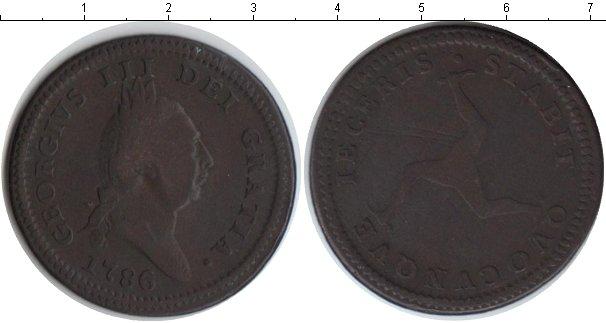 Картинка Монеты Остров Мэн 1 пенни Медь 1786