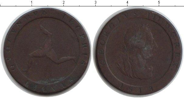 Картинка Монеты Остров Мэн 1/2 пенни Медь 1813