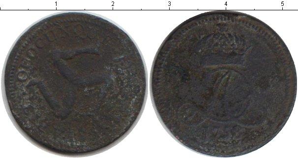Картинка Монеты Остров Мэн 1/2 пенни Медь 1758