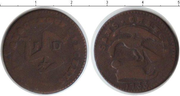 Картинка Монеты Остров Мэн 1/2 пенни Медь 1733