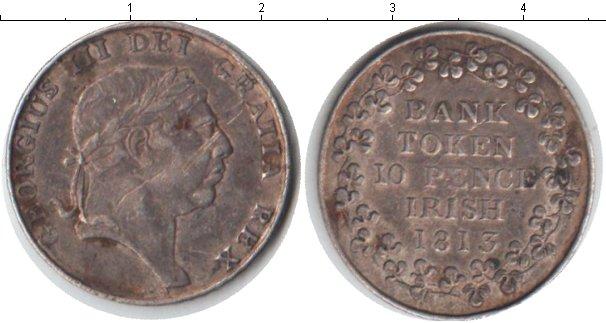 Картинка Монеты Ирландия 10 пенсов Серебро 1813