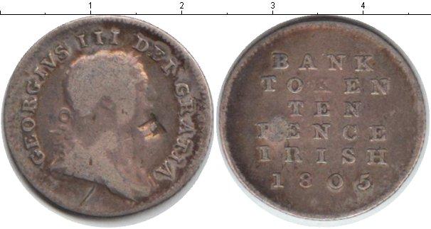 Картинка Монеты Ирландия 10 пенсов Серебро 1805