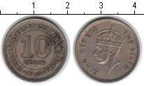 Изображение Монеты Малайя 10 центов 1948 Медно-никель XF Георг VI