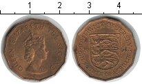 Изображение Монеты Остров Джерси 1/4 шиллинга 1964 Медь XF