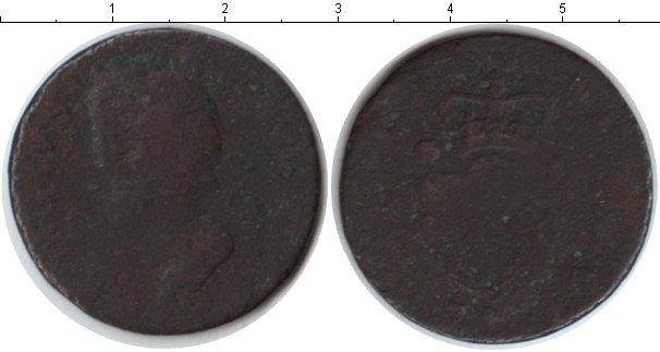 Картинка Монеты Остров Мэн 1/2 пенни Медь 1720