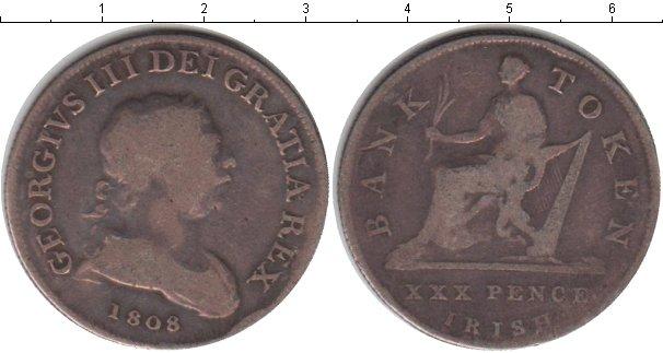 Картинка Монеты Ирландия 30 пенсов Серебро 1808