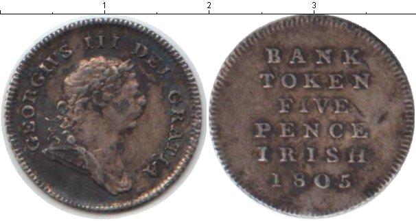Картинка Монеты Ирландия 5 пенсов Серебро 1805