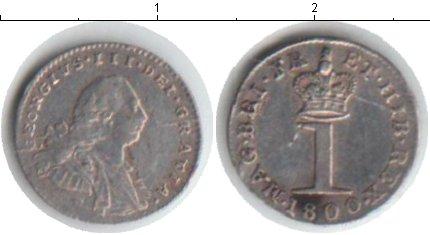 Картинка Монеты Великобритания 1 пенни Серебро 1800