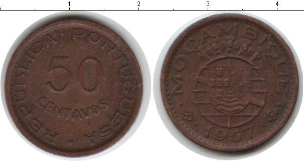 Картинка Монеты Мозамбик 20 сентаво Медь 1957