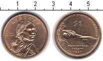 Изображение Мелочь США 1 доллар 2011  UNC- Сакагавея. Трубка ми