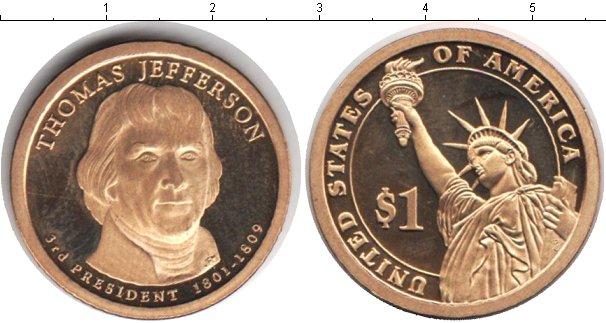 Купить монету сша 1 доллар - 2007 год.