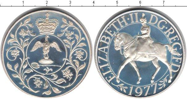 Картинка Монеты Великобритания 25 пенсов Серебро 1977