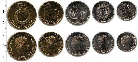 Изображение Наборы монет Соломоновы острова Соломоновы острова 2012 2012  UNC В наборе 5 монет ном
