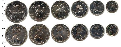 Изображение Наборы монет Остров Мэн Остров Мэн 1976 1976 Серебро UNC- В наборе 6 монет ном
